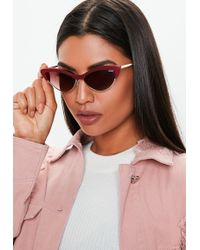 8367ca3d32 Missguided - Quay Australia X Finders Keepers All Night Red Sunglasses -  Lyst