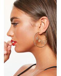 Missguided - Love Chain Hoop Earrings - Lyst