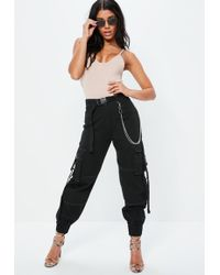 Missguided - Fanny Lyckman X Black Combat Chain Trousers - Lyst