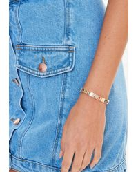 Missguided - Gold Link Bracelet - Lyst