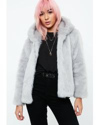 5dce49bf62ca8 Lyst - Missguided Black Mongolian Faux Fur Lining Coat in Black
