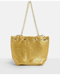 Missguided - Gold Metallic Chainmail Cross Body Bag - Lyst