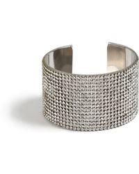 Missguided - Silver Look Diamante Cuff - Lyst