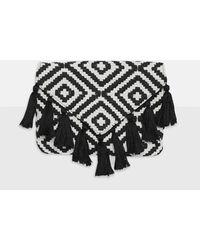 Missguided - Black Aztec Tassel Clutch Bag - Lyst