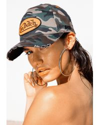 Missguided - Von Dutch Green Baseball Cap - Lyst