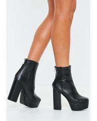 Missguided - Black Extreme Platform Boots - Lyst