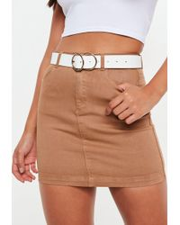 Missguided - White Double Ring Belt - Lyst