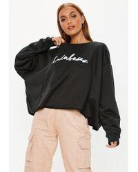Missguided - Black Oversized Calabasas Sweatshirt - Lyst