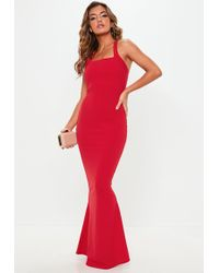 Missguided - Red Multiway Maxi Dress - Lyst