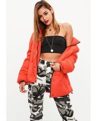 Missguided - Red Ultimate Oversized Puffer Jacket - Lyst
