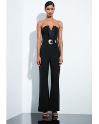 d3ad615d30db Missguided Peace + Love White Bardot Flare Leg Jumpsuit in White - Lyst