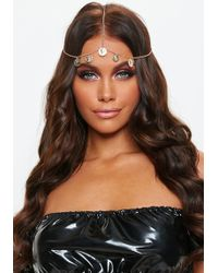 Missguided - Gold Look Coin Headchain - Lyst