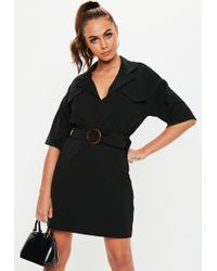 63b235ab2f Lyst - Missguided Short Sleeve T-shirt Dress Black in Black