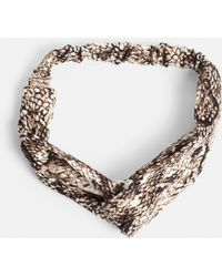 Missguided - Brown Snake Print Headband - Lyst