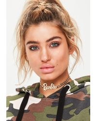 Missguided - Barbie X Gold Barbie Thick Chain Choker - Lyst