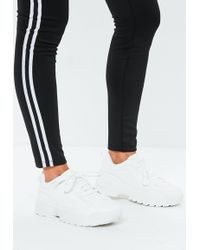 Missguided - White Chunky Lace Up Trainers - Lyst