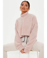 9a6dc7882 Lyst - Missguided Pink Teddy Joggers in Pink