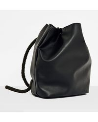 Missguided - Black Drawstring Backpack - Lyst