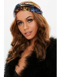 Missguided - Multi Rainbow Sequin Headband - Lyst