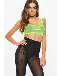 Missguided - Fanny Lyckman X Neon Green Mesh Crop Top - Lyst