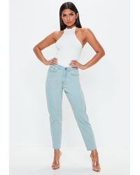 Missguided - Blue Vintage Riot High Waisted Jeans - Lyst