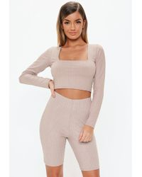 7e50325c08b23 Lyst - Missguided Staccey Premium Sequin Bralet in Lilac in Purple