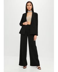Missguided - Carli Bybel X Black Tuxedo Trousers - Lyst