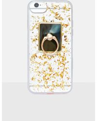 Missguided - Gold Sequin Knocker Iphone 6 Case - Lyst