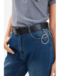 Missguided - Black Double Ring Buckle Belt - Lyst