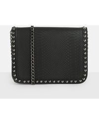Missguided | Black Faux Snake Skin Bag | Lyst
