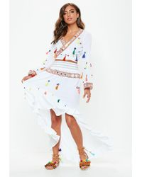473227995a Missguided - White Multi Tassel Mirror Skirt - Lyst