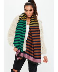 Missguided - Rust Multi Striped Scarf - Lyst