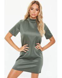 5514c118dba Lyst - Missguided Grey Metallic Vest Dress in Gray