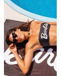 Missguided - Barbie X Black Bandeau Bikini Set - Lyst