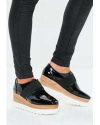 Missguided - Black Contrast Platform Shoe - Lyst