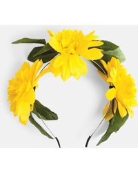 Missguided - Yellow Floral Headband - Lyst