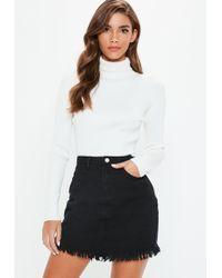 631a599ba2 Lyst - Missguided White Denim Superstretch Denim Mini Skirt in White