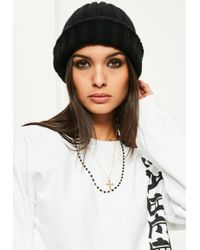 Missguided - Black Layered Beaded Necklace - Lyst