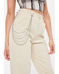 Missguided - Silver Look Belt Chain - Lyst