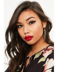 Missguided - Gold Textured Hoop Earrings - Lyst