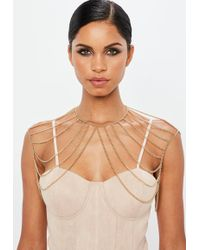 Missguided - Gold Body Chain - Lyst
