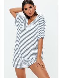 Missguided White American Football Mesh Shirt Dress in White - Lyst 32d36e7d8
