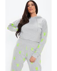 a75f0a0c3 Missguided White Oversized Contrast Honey Bunny Embroidered Slogan ...