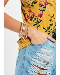Missguided - Gold Diamante Bangle Pack - Lyst