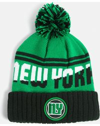 Missguided - Green New York Colour Block Bobble Hat - Lyst