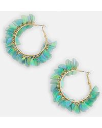 Missguided - Green Sequin Earrings - Lyst