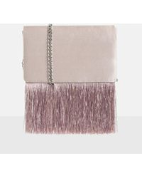 Missguided - Pink Satin Tassel Trim Cross Body Bag - Lyst
