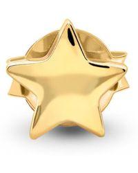 Missoma - Single Gold Star Stud - Lyst