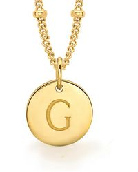 Missoma - Ladies Gold Initial G Pendant With Beaded Chain - Lyst