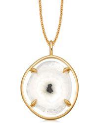Missoma - Snowflake Agate Slice Necklace - Lyst